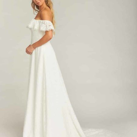 Karolina Off the Shoulder Lace Wedding Dress