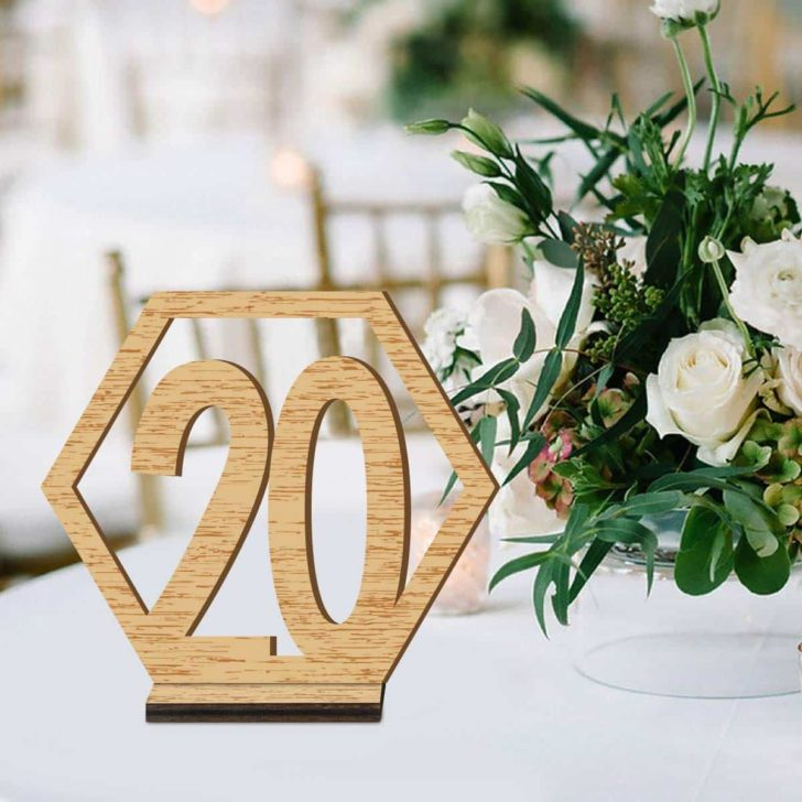 amazon wedding decor - wooden table numbers