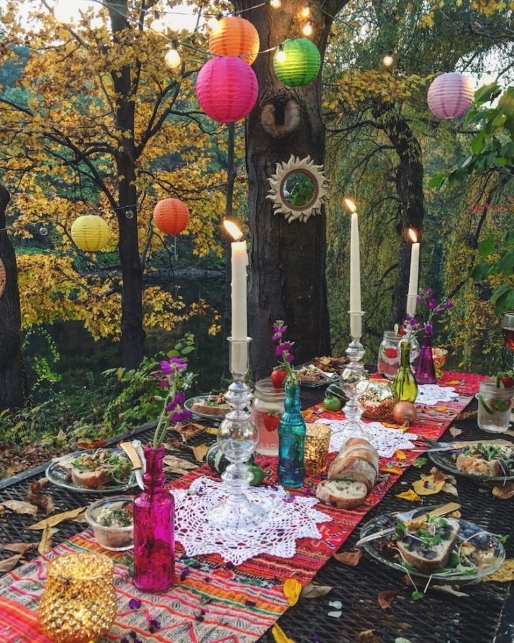Colorful Bohemian Wedding Decor