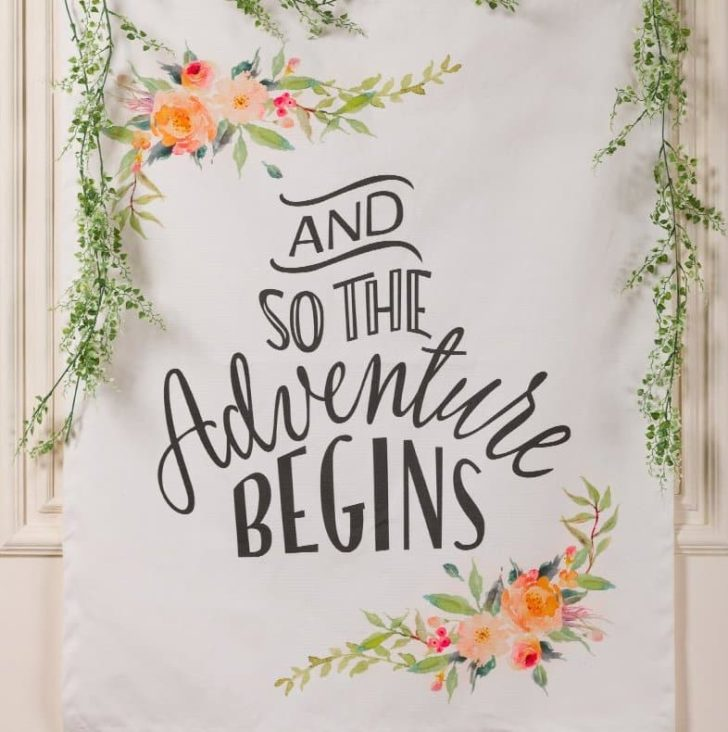 amazon wedding decor - adventure sign