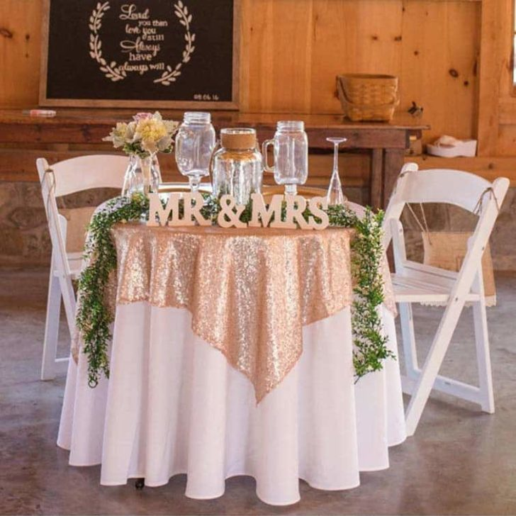 amazon wedding decor -sequin table overlay