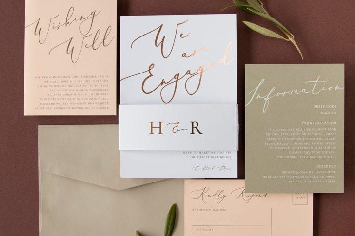 Rose Et Gris Wedding Invitation - Paperlust