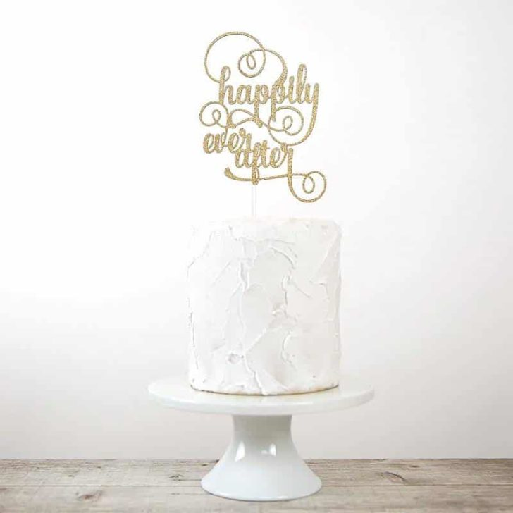 amazon wedding decor - happily ever after wedding cake topper