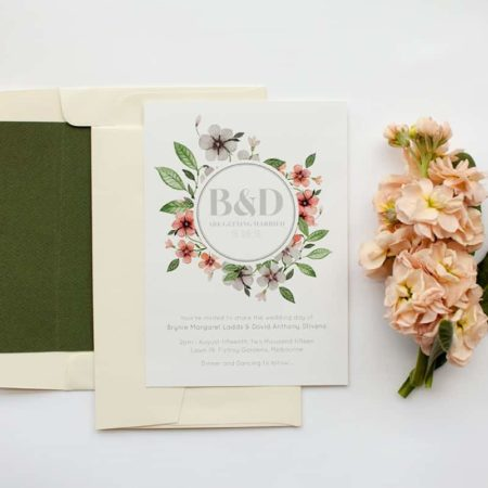 Floral Circle Invitation Set