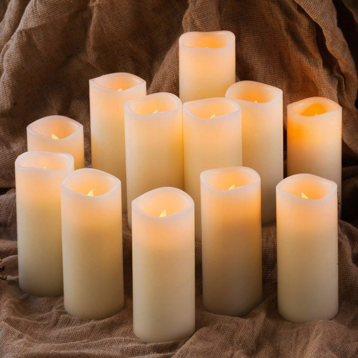amazon wedding decor - pillar candles
