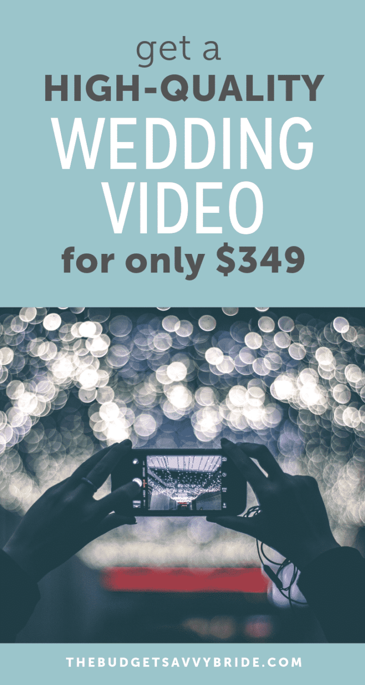 get a high quality wedding video for only 349