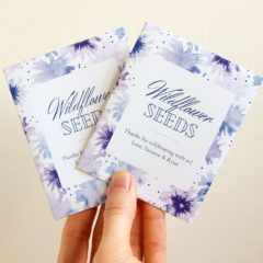 Wedding Seed Packets Template