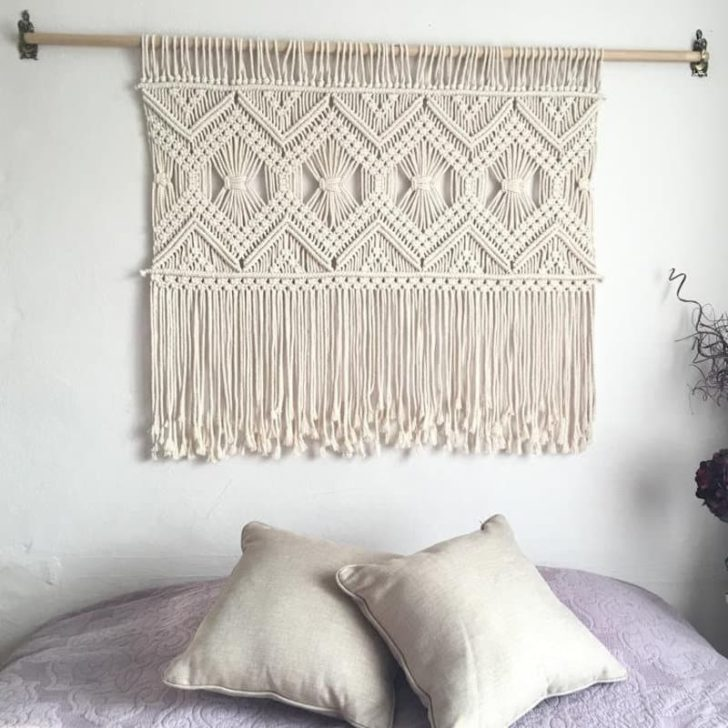 macrame cotton wall art hanging | Cotton Anniversary Gift