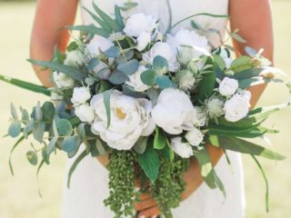 Silk flower wedding bouquets for rent from Something Borrowed Blooms