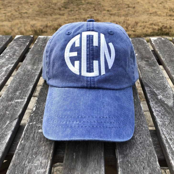 lakeside monograms - womens monogram hat