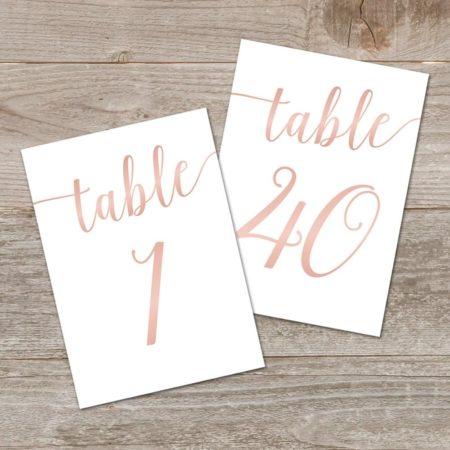 Rose Gold Printable Wedding Signs Bundle