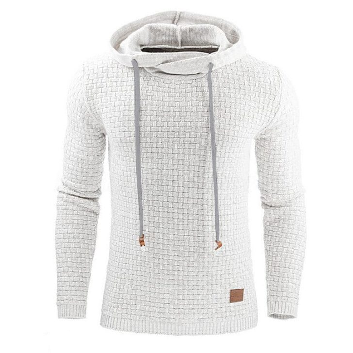 cotton means waffle knit hoodie