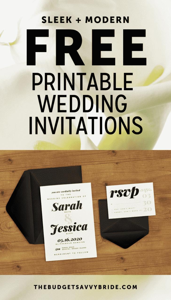 free sleek and modern wedding invitation printables2