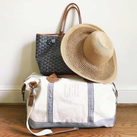 monkeyseeboutique - womens cotton canvas duffel bag
