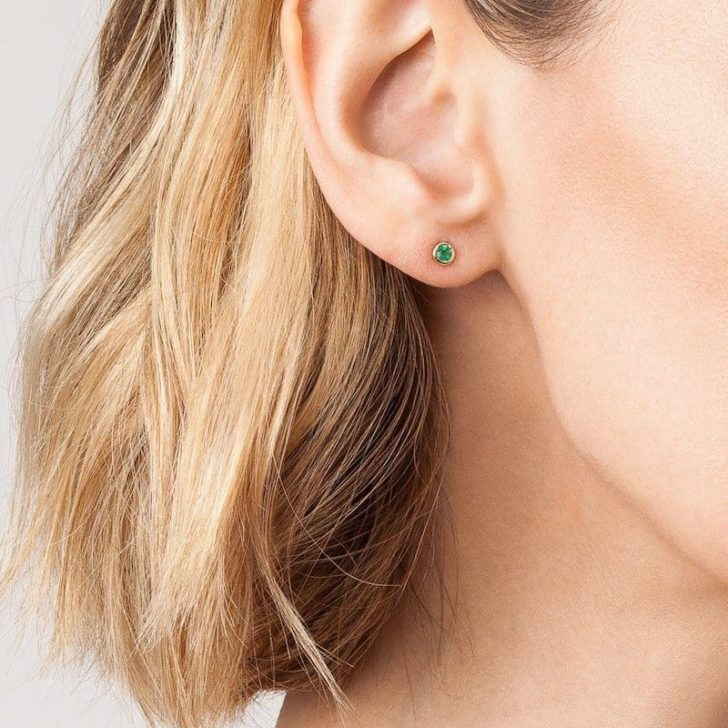 AUrate birthstone studs   Dainty Wedding Jewelry   Dainty Earrings