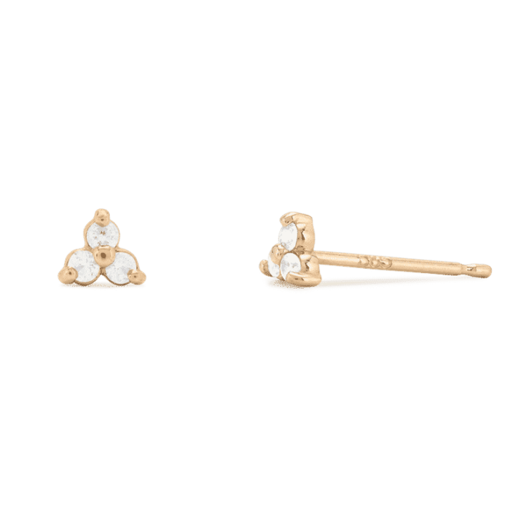 mejuri 14k lotus studs   Dainty Wedding Jewelry   Simple Wedding Accessories