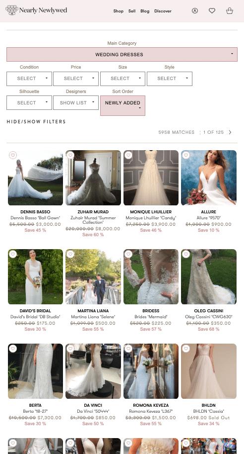 nearly newlywed used wedding dresses