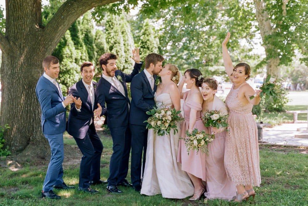 Blush and Blue Modern Wedding