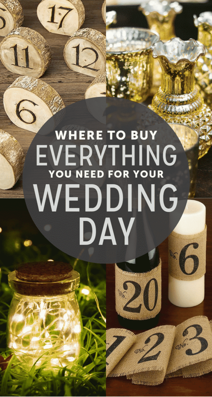 budget wedding resources: where to buy everything you need for your wedding. Affordable wedding items and suppliers to shop!