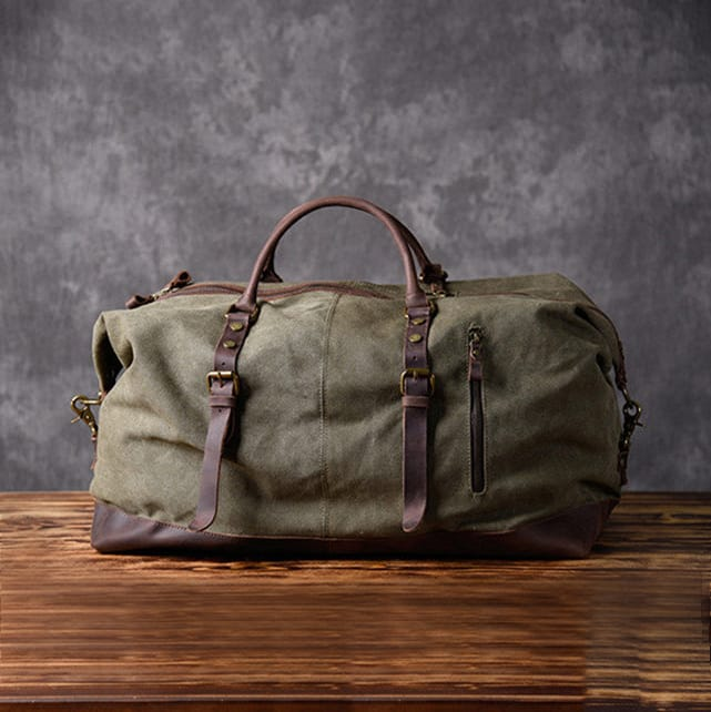 owenleathershop - mens canvas duffel bag