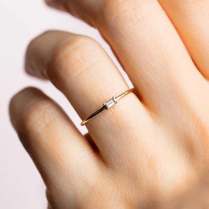 local eclectic baguette ring   dainty jewelry, delicate rings, dainty rings, simple rings, minimalist rings