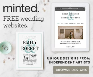 minted wedding websites