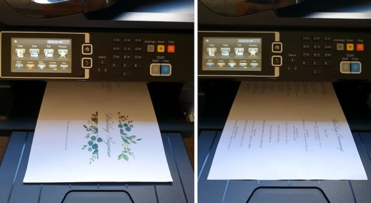 Free Printable Wedding Program Design