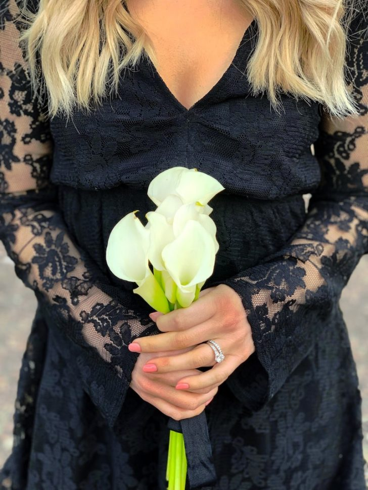 calla lily wedding bouquet - modern sleek wedding inspiration blooms by the box