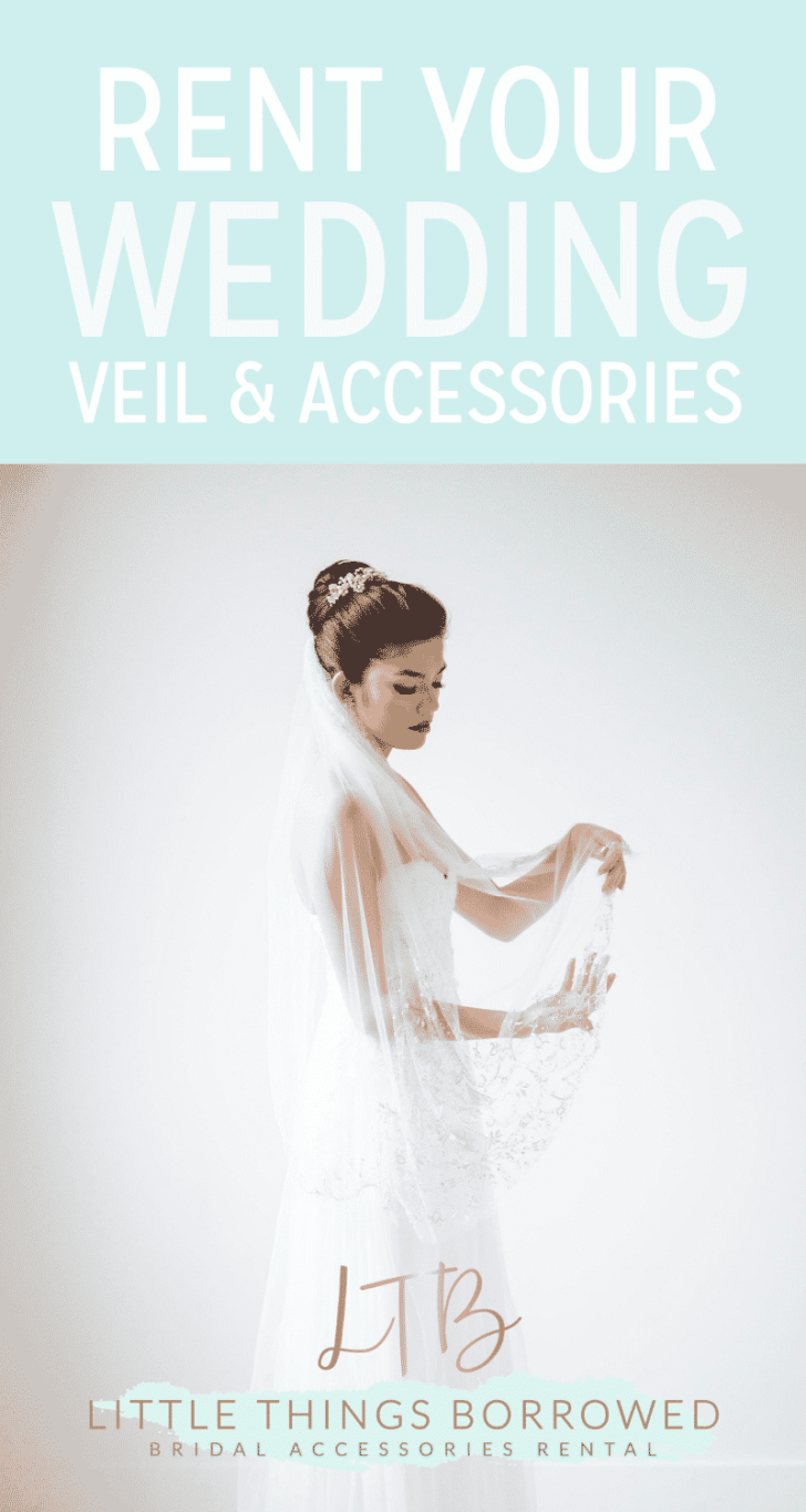 rent your wedding veil and accessories