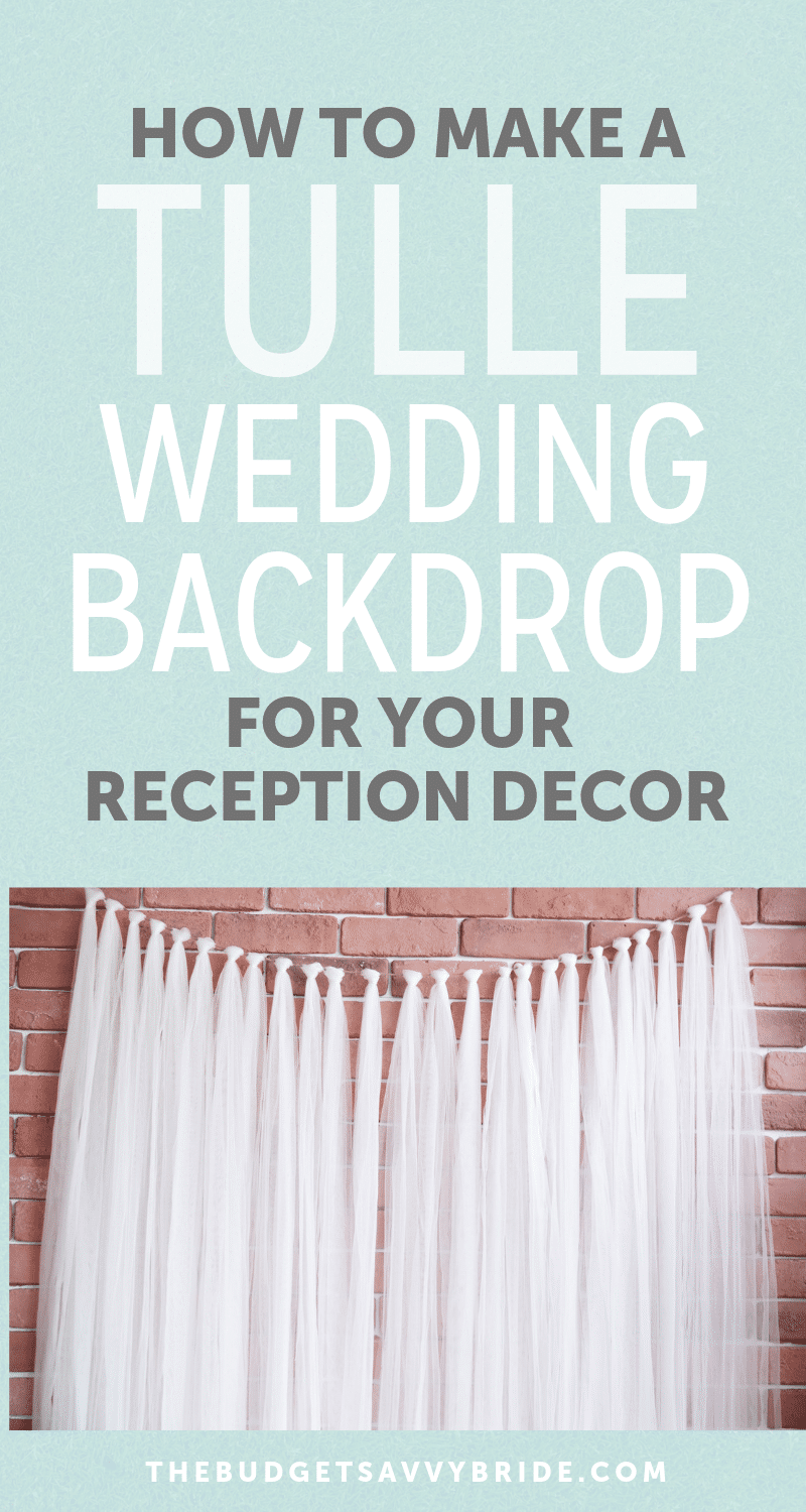 Creating A Tulle Wedding Backdrop