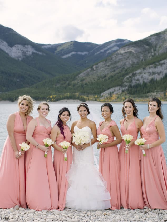 henkaa affordable bridesmaids dresses - convertible bridesmaids dresses