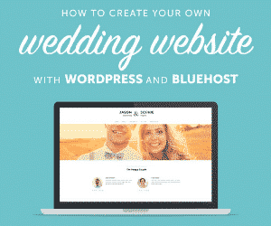 Create your own wedding website with Bluehost