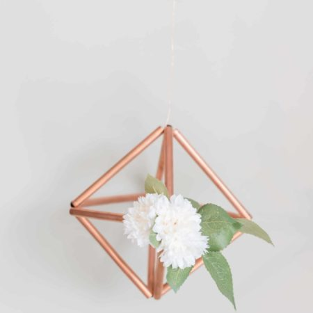Copper Geo Hanging Arrangement - DIY Wedding Decor