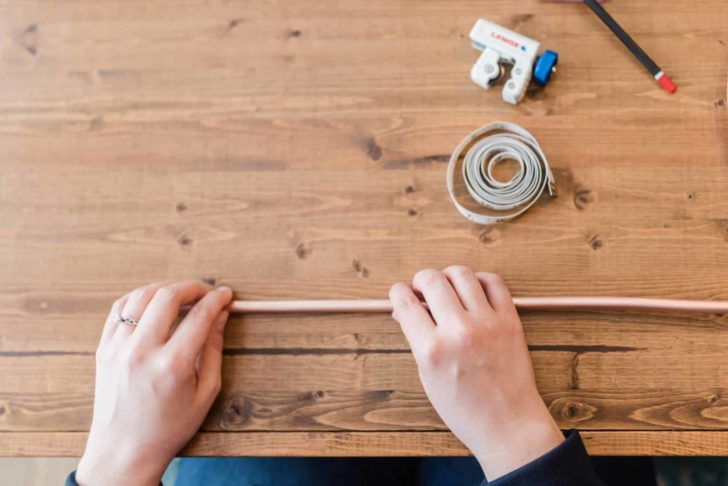 Copper Geo Hanging Arrangement - DIY Wedding Decor
