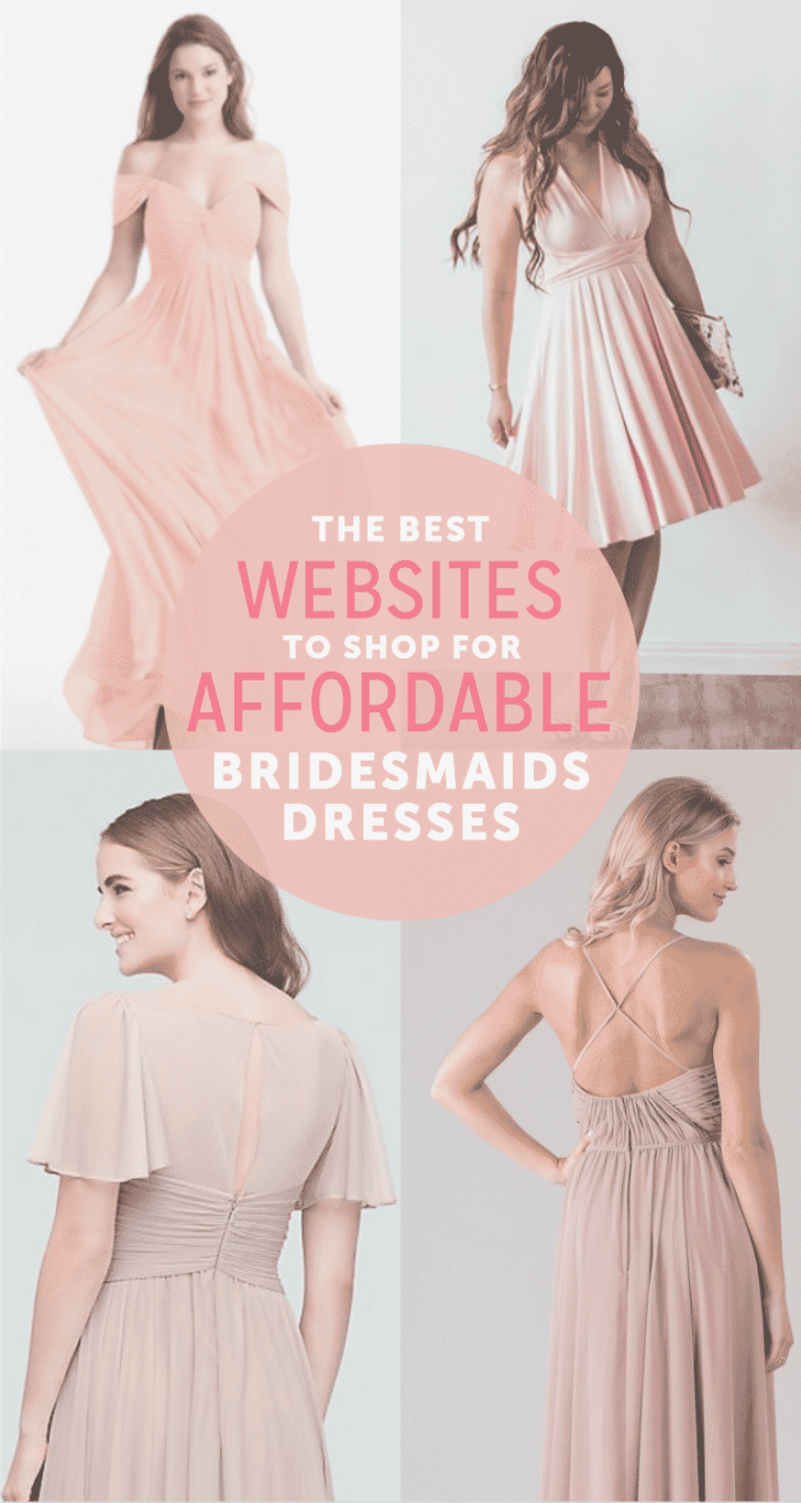 best websites for affordable bridesmaids dresses