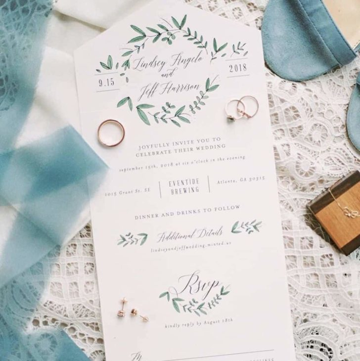 minted all in one wedding invitations