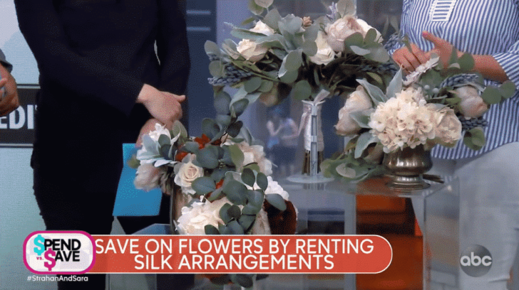 strahan and sara - gma - save money on a wedding flowers