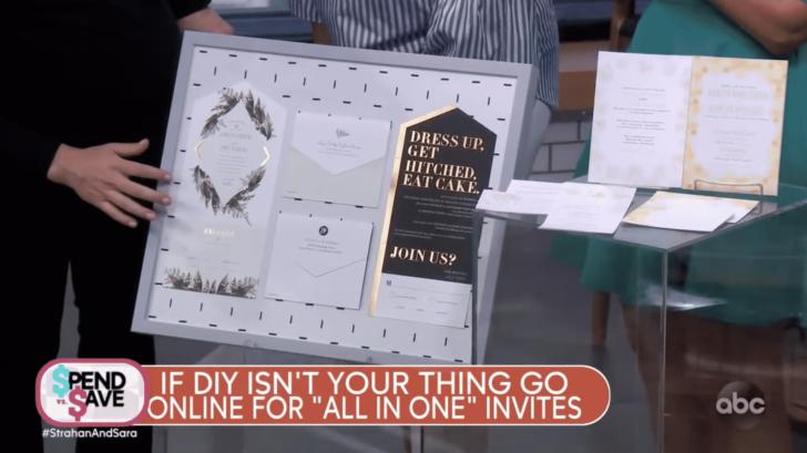 strahan and sara - gma - save money on a wedding - invitations