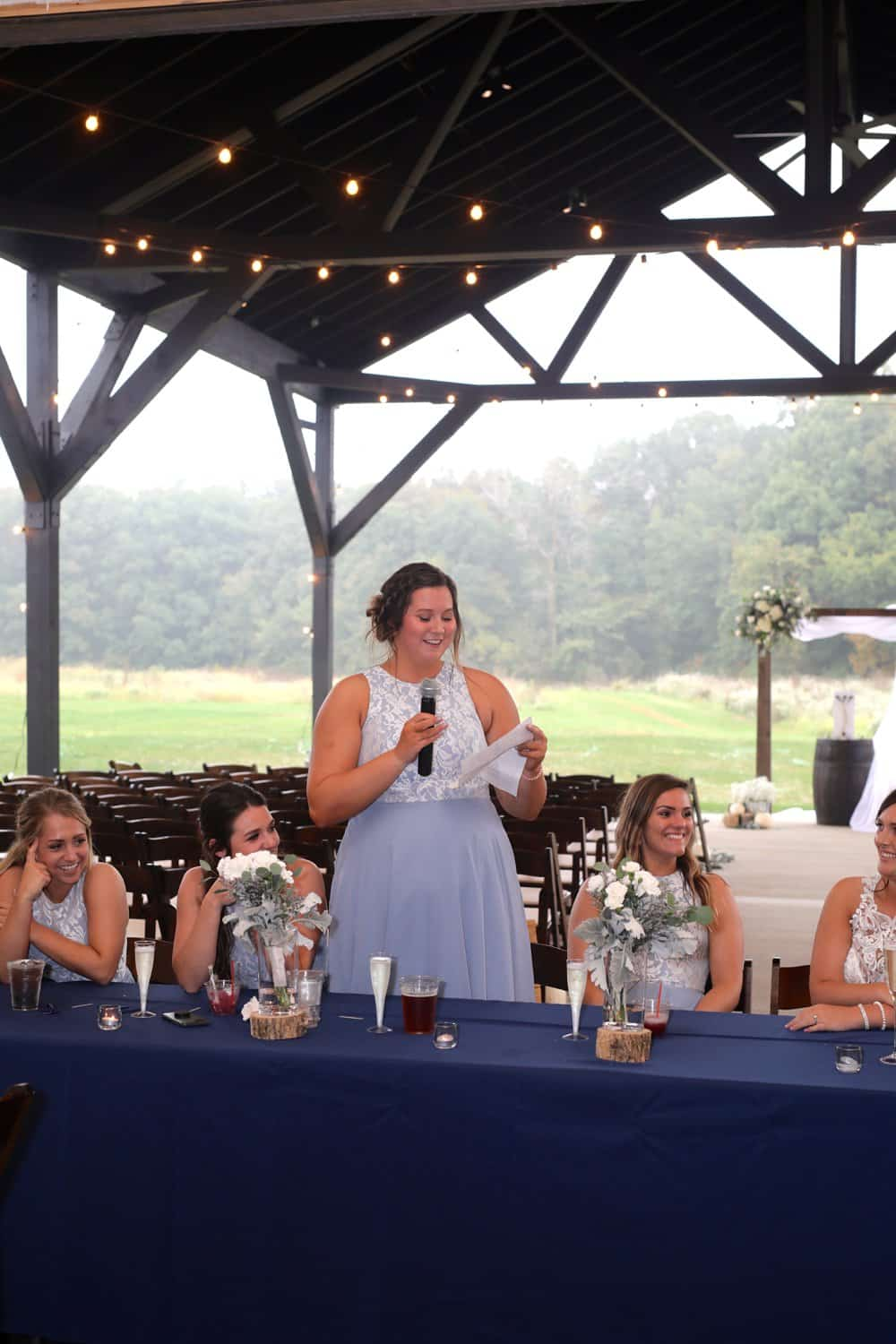 Whimsical Modern Barn Wedding in Blue