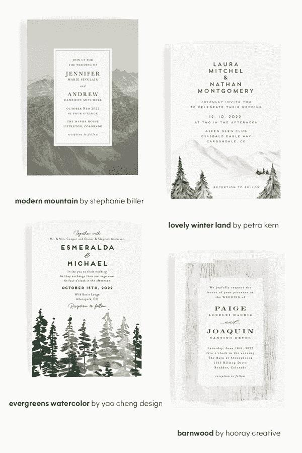 Minted Wedding Invitations - Wedding Design Trends - Rustic