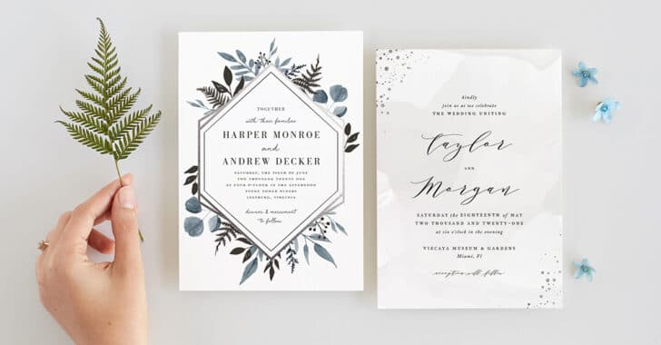 minted wedding invitation collection