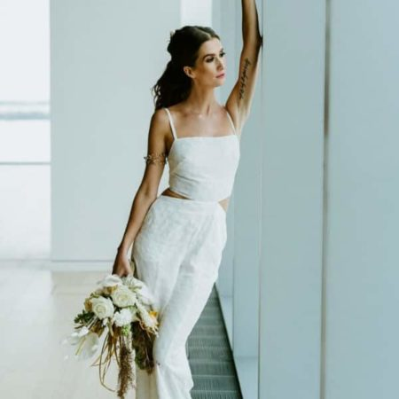 BOHO WHITE BRIDAL JUMPSUIT By BYCATALFO