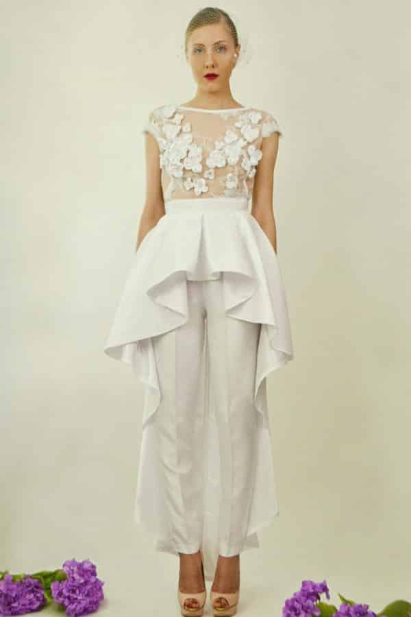 FLORAL EMBROIDERED LACE JUMPSUIT BY DanielaTabois