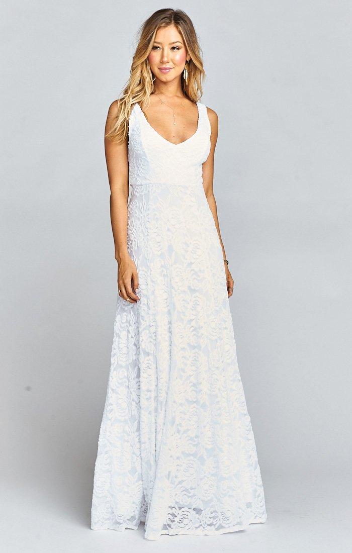 Jenn Maxi Dress ~ Ivory Crisp   Show Me Your MuMu