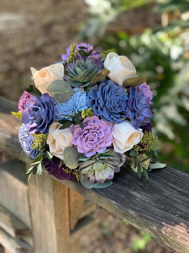 Pine and Petal Weddings - fairytale succulent bouquet