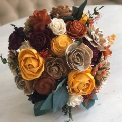 Pine and Petal Weddings - fall succulent bouquet