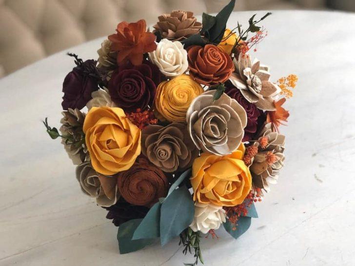 Pine and Petal Weddings - fall succulent bouquet