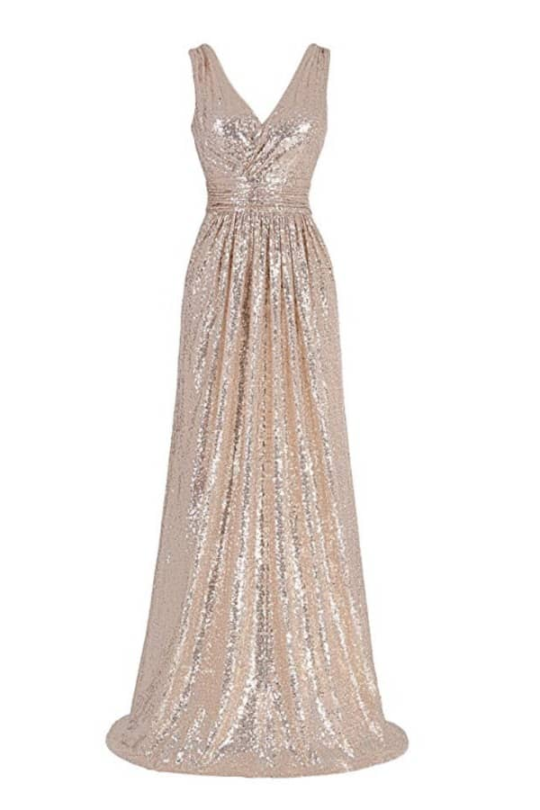 Sequin Sleeveless Maxi  By Kate Kasin