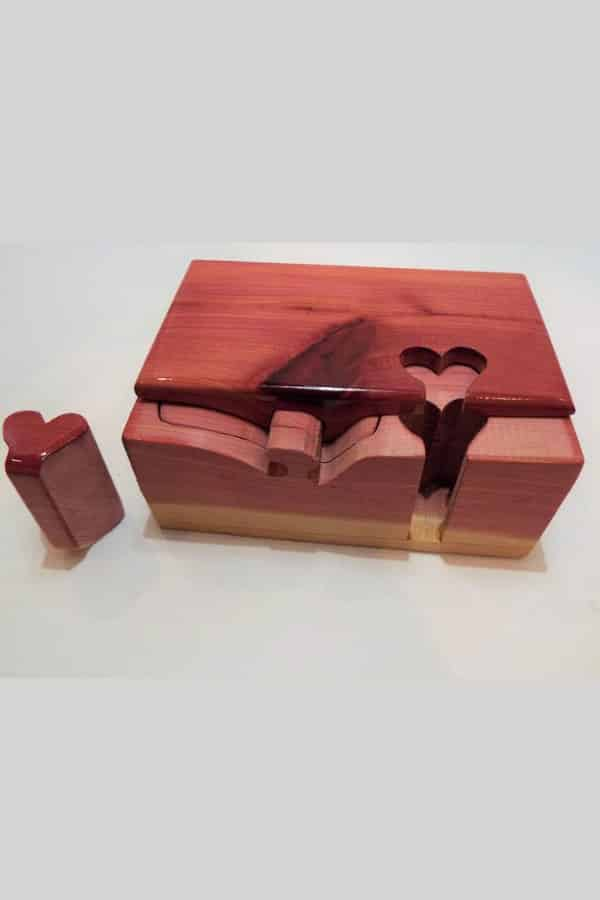 5th Wedding Anniversary Gift Idea - WOOD PUZZLE BOX