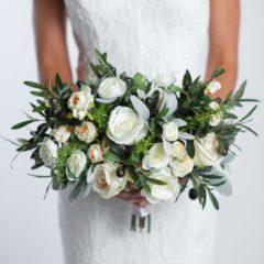 olivia bridal bouquet - something borrowed blooms